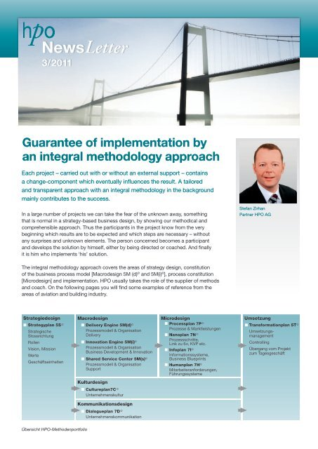 Guarantee of implementation by an integral methodology ... - HPO