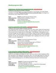 Wanderprogramm 2012