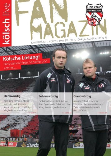 Rentier op Kölsch! - Fan-Projekt des 1. FC Köln