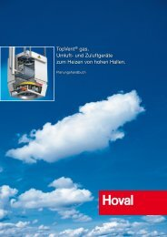 TopVent gas Planungshandbuch - Hoval Herzog AG