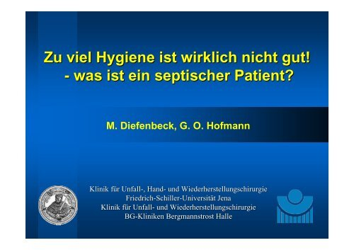 was ist ein septischer Patient? - Septische Chirurgie