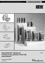 MOVIDRIVE® MDX61B Feldbusschnittstelle DFE13B EtherNet/IP