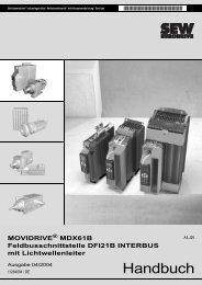 MOVIDRIVE® MDX61B Feldbusschnittstelle DFI21B INTERBUS mit ...