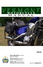 Motorcycle Manual - Vermont Department of Motor Vehicles ...