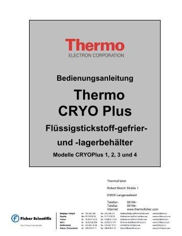 Bedienungsanleitung - CRYOPLUS 1 2 3 & 4