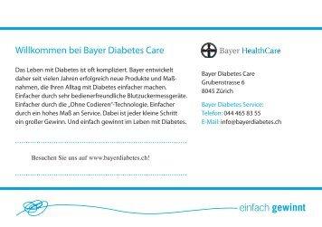 Diabetes und Füsse, PDF - Bayer Diabetes Care Schweiz