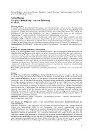 Periphere Dämpfung - zentrale Belastung - Spiraldynamik