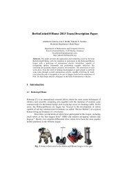 Team Description Paper - Freie Universität Berlin