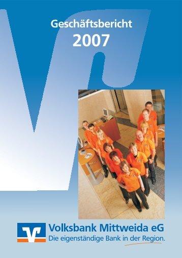 Geschäftsbericht - Volksbank Mittweida eG
