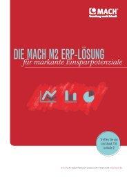 die MACH M2 ERP-Lösung. Eine Beispielrechnung - MACH AG