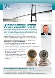 Optimierungspotenziale umsetzen und in der Organisation ... - HPO