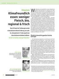 Klimafreundlich essen: weniger Fleisch, bio, regional & frisch