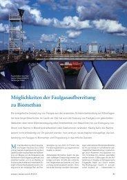 Möglichkeiten der Faulgasaufbereitung zu Biomethan - Biogaspartner