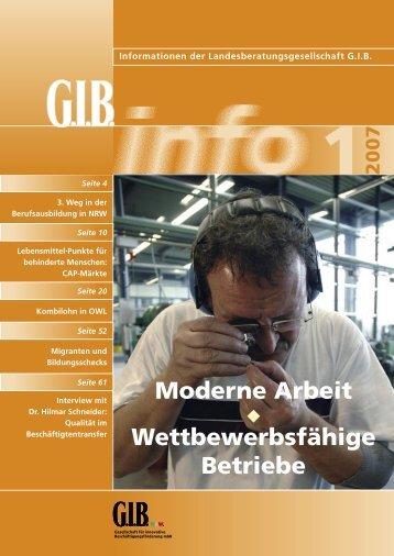 Moderne Arbeit Wettbewerbsfähige Betriebe - GIB NRW