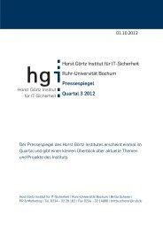 Horst Görtz Institut für IT-Sicherheit Ruhr-Universität Bochum ...