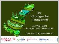 Der Ökologische Fußabdruck - Energie für die Zukunft