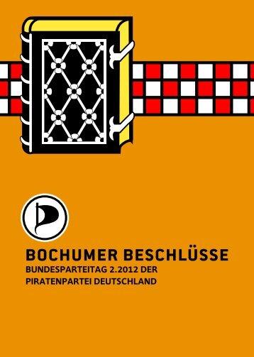bochumer beschlüsse - Piratenpartei Deutschland