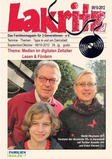 Dieter Heymann (67) Vorstand der Akademie 55+ in Darmstadt mit ...