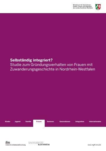 Selbständig integriert? - Institut für Mittelstandsforschung ...