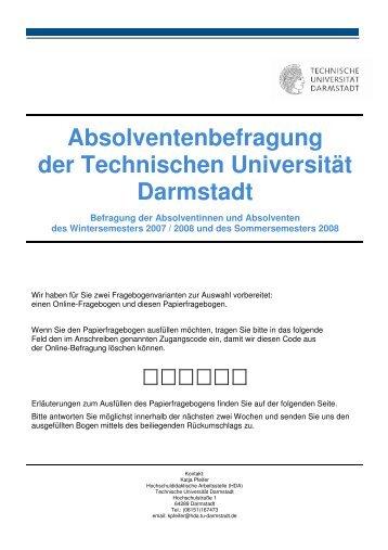 Absolventenbefragung der Technischen Universität Darmstadt