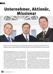 Unternehmer, Aktionär, Missionar Erstellt am: 1.10