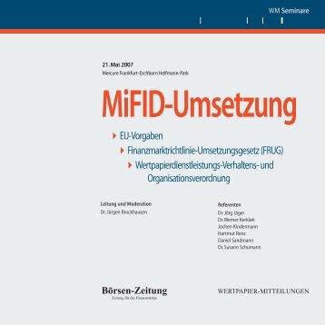 EU-Vorgaben >Finanzmarktrichtlinie-Umsetzungsgesetz (FRUG ...