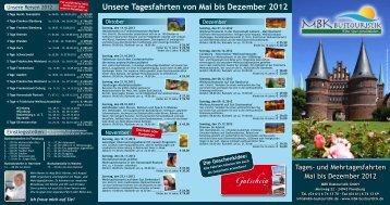 Flyer (Tagesfahrten) - MBK Bustouristik GmbH