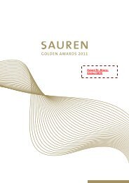 Sauren Golden Awards 2011 - Broschuere - LOYS AG