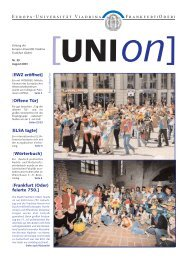 Europa-Universität Viadrina Frankfurt(Oder) - European University ...