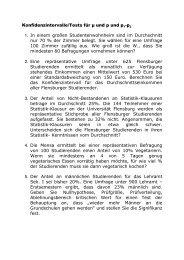 Aufgaben für StatII - Universität Flensburg