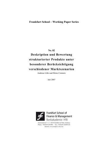 HfB- Druckformatvorlage - Frankfurt School of Finance & Management
