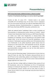 PM RMR Frankfurt 2012 - BNP PARIBAS Real Estate Deutschland