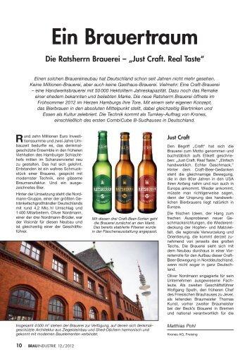 Ein Brauertraum Die Ratsherrn Brauerei