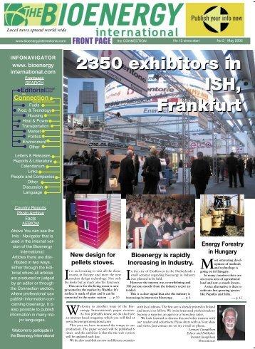 Wood chips 2350 exhibitors in ISH, Frankfurt 2350 ... - Novator