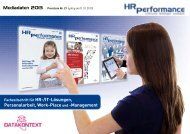 Mediadaten HR Performance 2013 - DATAKONTEXT