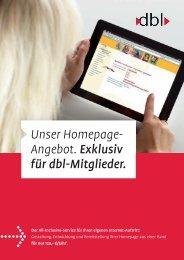 Info-Flyer - dbl - Deutscher Bundesverband für Logopädie e.V.