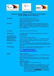 Ausschreibung - Deutscher Behindertensportverband