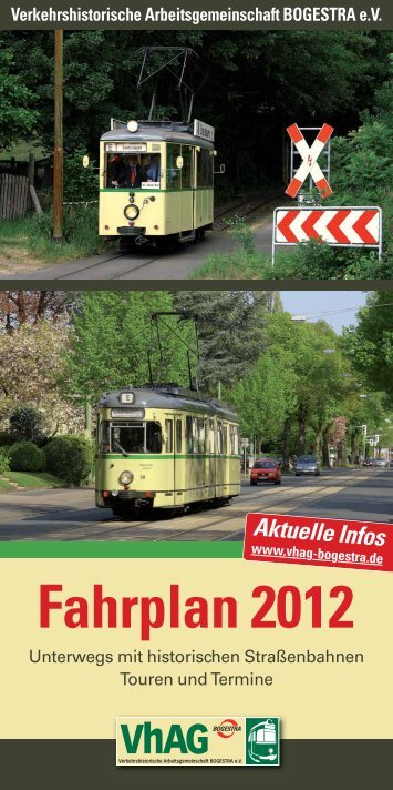 Fahrplan 2012 - VhAG BOGESTRA eV