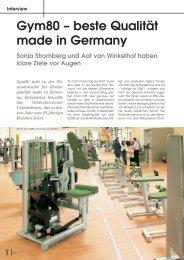 Gym80 – beste Qualität made in Germany Sonja Stromberg und Aat ...