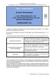 Modulhandbuch 1. Teil WiRe und IBLBM
