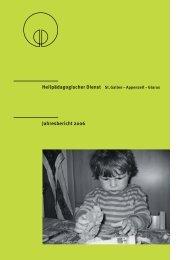 Jahresbericht 2006 - Heilpädagogischer Dienst St.Gallen-Glarus