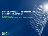 Eurex Systemtraining Handel - Deutsche Börse AG