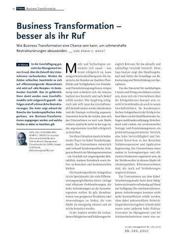 Business Transformation – besser als ihr Ruf (PDF, 3.6 - Zühlke