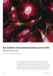 Das Gießener Tumordokumentationssystem GTDS - Justus-Liebig ...