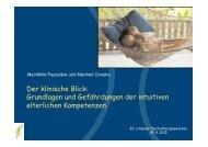 Der klinische Blick - Lindauer Psychotherapiewochen