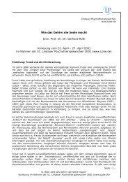 Wie das Gehirn die Seele macht Univ.-Prof. Dr. Dr. Gerhard Roth ...