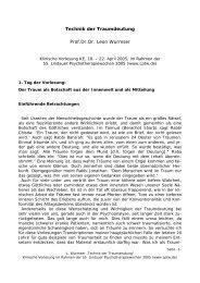 Technik der Traumdeutung (pdf) - Lindauer Psychotherapiewochen
