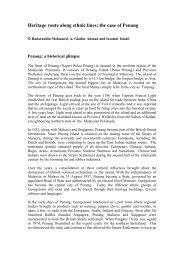 Heritage route along ethnic lines: the case of ... - Australia ICOMOS