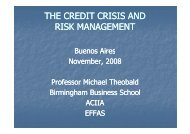 THE CREDIT CRISIS AND RISK MANAGEMENT - IAEF