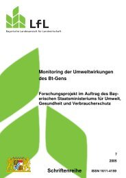 Monitoring der Umweltwirkung des Bt-Gens - Bayerische ...